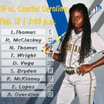 Heres this afternoons starting lineup against Coastal Carolina! #letsgoG https://t.co/JhwYdbakPX