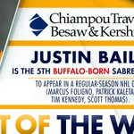 Congrats to @JustinBailey95 on becoming the 5th Buffalo-born player to suit up for the hometown Sabres! #OneBuffalo https://t.co/ku6UvI5V9X