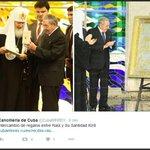 .@RaulCastroR y Su Santidad #Kirill intercambiaron regalos en la sede del Palacio de la Revolución https://t.co/U3B3vf8cKh