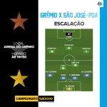 #Grêmio escalado! Pra cima deles, Tricolor! #Gauchão2016 #VamosTricolor #GRExSJO https://t.co/gaBWouSPaY