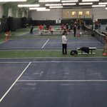 Checking out @LibertyWTennis take on West Virginia at the Sports Racket. #GoFlames https://t.co/OIiyxl9Vit