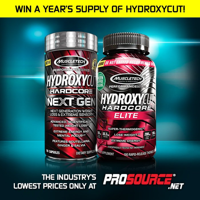 Enter to win a Year's Supply of @MuscleTech Hydroxycut! Just RT this tweet & click here: https://t.co/WYPmQrFSUE https://t.co/IJLZdCVubU