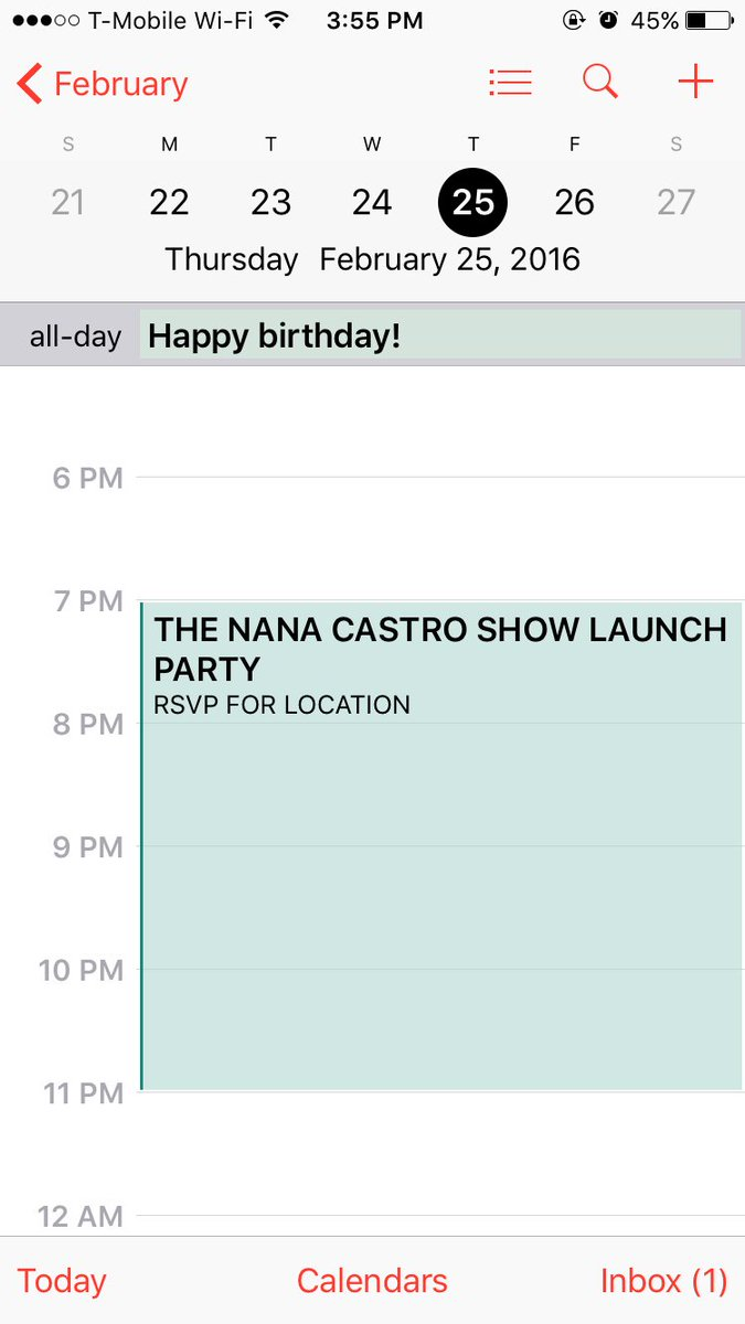 Feb 25th I'm hosting The Nana Castro Show launch party/ @NanaCastro_'s bday! RSVP ASAP https://t.co/rVwKxIGFDH https://t.co/h8168hZYpJ