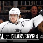 Anze Kopitar third-career hat-trick, Tanner Pearson w/ the OT-winner. Your @SASsoftware from MSG. https://t.co/9ae9ZPOzsF