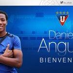 El delantero ecuatoriano, Daniel Angulo, es la nueva contratación de #LDU para la presente temporada.  #RefuerzoLDU https://t.co/rkBrbqcuHz