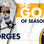 🚨🚨🚨 Josh Gorges jumps up on the play, and its 3-1 Buffalo! Just 1:28 into the 2nd. https://t.co/kEl1Lso3Lc