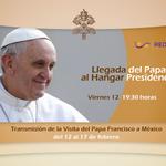 Sintoniza hoy la llegada del Papa al Hangar Presidencial por canal 30.1 en señal digital #PapaEnMex https://t.co/bHsw7BWuKw