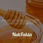 Madu merupakan makanan yang tidak akan rosak. #nakfakta #nakbebel https://t.co/QSkhMNyqoB