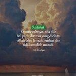 Allah sukakan hambanya yang lemah lembut dan tidak mudah marah. #nakbebel https://t.co/XTcTIPa41E