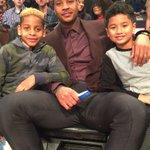 Courtside at #BBVARisingStars, @carmeloanthony and his squad! #NBAAllStarTO https://t.co/ubNPnRmiHg