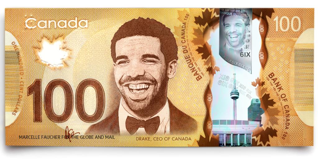 We put @Drake on the $100 bill. Happy Friday! 🍁 https://t.co/NM1u0SuMNi