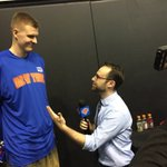 """.@kporzee to @jonahballow: """"It was great to see @carmeloanthony sitting courtside."""" #BBVARisingStars #KnicksTOthe6 https://t.co/Xd6fJaIXrx"""