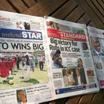 The Kenyan media reportage on the rejection of the prior witness testimony in the Ruto and Sang cases https://t.co/xt5Xr2lO4q