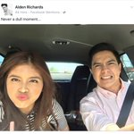 DEYM MAN YOURE INLOVE WITH THIS GIRL .... ????❤️ FB UPDATE OF @aldenrichards02 AN HOUR AGO #ALDUBValentinesDate https://t.co/mQZtfofkZV