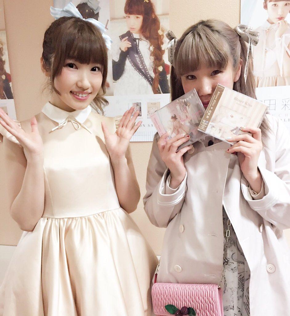 今日は内田彩さんのイベントへ♡衣装可愛く着ていただいてました!ご本人も可愛くて優しくてとっても素敵な方でしたが、さらに生歌に感動しました…♡! 本当にありがとうございます♡♡♡ #緊張しすぎた https://t.co/Bb1v5i6V8d
