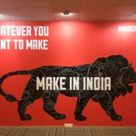 All roads lead to the #MakeInIndia centre where Indias enterprising spirit is being showcased & celebrated. https://t.co/vFqxDHXwJu
