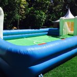 """""""@xtiandela: The soapy water Football pitch is ready ???????????????? #XtianDelaValentinesParty https://t.co/18nLLLhFo0"""""""