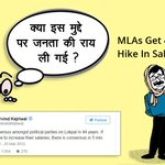 1st Year 400% Salary Hike 32 Lac/yr Pay Package for @ArvindKejriwal MLAs- Hope he remembers his 25th March12 Tweet- https://t.co/vPwRXn8GjD