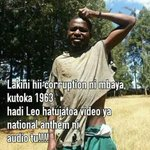 #AfterValentines #SautiSolLyrics #WBWR #HotSMS #Rule68 Hahaha Hey surely Kenya we need a national anthem video https://t.co/NqpxQQ2Wa2