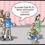 Excellent Toon on Wi-Fi Promise- @ArvindKejriwal asking to use Politically Correct Password to access Free Wi-Fi! https://t.co/YRs8qoeuX9