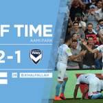 HT | City 2-1 Victory Enthralling half here at @AAMIPark with a @BFornaroli double headlining the act. #MelbDerby https://t.co/FyNim6EAhy