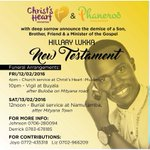 #RIPNewTestament: Uganda Gospel Music will miss u. Thanks 4 the service. We shared his music https://t.co/wUlqcD2Qw7 https://t.co/mgYdrkiDFf
