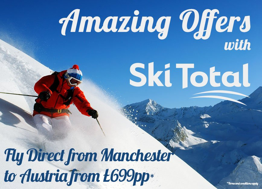 The snow is falling! Why not fly from Manchester to Austria with Ski Total from £699pp -