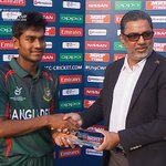 Bangladesh Captain Mehidy Hassan is named as Man of the Match in the home sides historic win #U19CWC #FutureStars https://t.co/OG40GZbiZ3