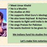 """Here is UmarKhalid frm JNU who is Granted """"Innocent Certificate"""" By Prophet of Honesty @ArvindKejriwal #IndiaFirst https://t.co/9RqywJ9kK6"""
