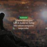 Solat sempurnakan hidup kita. #nakbebel https://t.co/FE6bOWRPIw