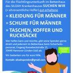 In der Flüchtlingsunterkunft im Siloah #Hannover werden noch Spenden gebraucht. Und zwar konkret: https://t.co/JkynbqAaxq
