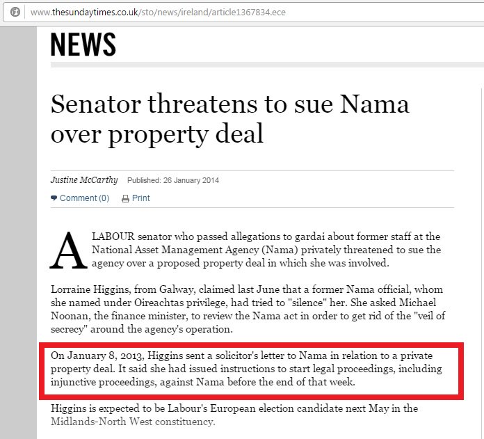 ".@LorHiggins Never gonna ""criticise NAMA in the Seanad without disclosing fact you're doing business with it""? https://t.co/lJvdpQKied"