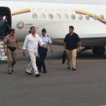 Presidente @MashiRafael arriba a #Guayaquil https://t.co/USAN62oMmt