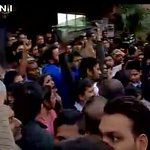 #ABVP members show black flag, raise slogans against @OfficeOfRG against His Support for Anti-nationals in #JNU. https://t.co/geFcn1iR5p