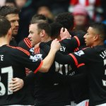 PIC: #mufc celebrate @AnthonyMartials leveller - United have had the better of the game so far. https://t.co/82hLVwG2oD