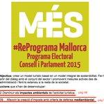 .@diariomallorca El programa de Més no decía nada de q la recaudación fuera a fines sociales, sino medioambientales https://t.co/7MWMYbhskE