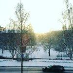Snowing sunset in #Oulu. #Finland https://t.co/UFwJKGpbgn
