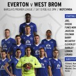 TEAM: Its an unchanged line-up for the Blues...#EFCvWBA https://t.co/szx0JvekiA