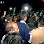 ABVP workers show black flags and raise slogans against Rahul Gandhi inside the #JNU campus https://t.co/syJ7QIcqxX