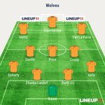 Heres how Wolves line up today. #wwfc https://t.co/5P4YyWtGJL