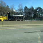 Crews putting brine down on I-40 West near Mebane....@WFMY https://t.co/G3LGO7xfxA
