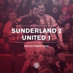 FT: Sunderland 2 #mufc 1. Disappointment for United with Martials goal not enough for a share of the points. https://t.co/NvMpuRuOHe
