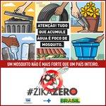 Hoje é Dia D de Combate ao Aedes Aegypti! ???????????? Mobilize sua família e amigos e elimine a água parada! ???? #ZikaZero https://t.co/4QSzou6nHA
