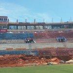 #LaNuevaOlla vista de obras desde el campo de juego #Cerro https://t.co/mqZPa7WgqF