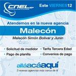 Hoy te atendemos en nuestra nueva Agencia del centro de #Guayaquil, en Malecón y Junín, de 08h00 a 13h00. https://t.co/2pfILfLWbK