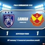 JDT memenangi perlawanan Sumbangsih 2016 selepas tewaskan Selangor menerusi sepakan penalti 7-6. https://t.co/NSLsZ3W9Y9