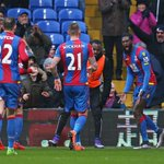 PHOTO Emmanuel Adebayor celebrates his first goal for Crystal Palace, nodding in to level the score #CRYWAT https://t.co/cLFb8kRT7o