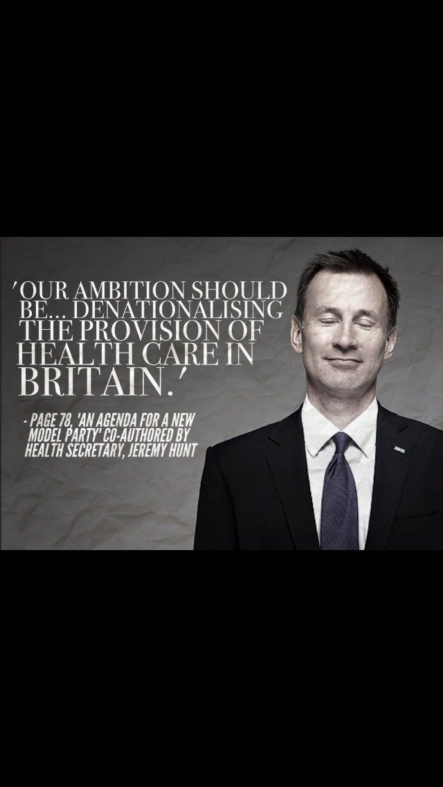 For anyone left in any doubt about what @Number10gov & Jeremy Hunt hope to achieve with our NHS. https://t.co/7sd34sOoxk