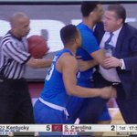 Breaking: John Calipari ejected less than 3 minutes into the game at South Carolina. #BBN https://t.co/LXiVbMRafb