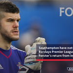 .@FraserForster has been unbeatable since his return... #SWASOU https://t.co/ccN9FVKWQU